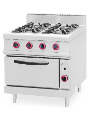 ZH-TQ-4 Gas Range With 4 - Burner & Oven