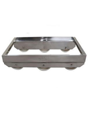 ST6 - 10_ STAINLESS TROLLEY 6 WHEEL